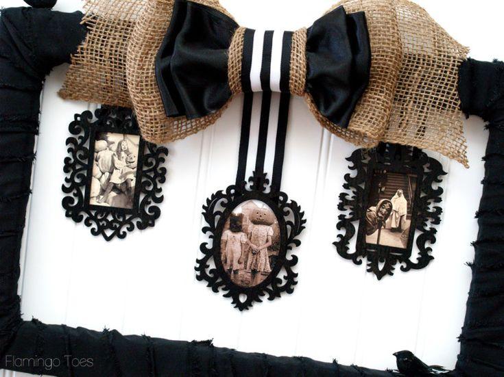 creepy Halloween photo frame
