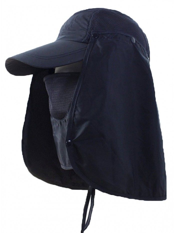 Outdoor Mask Hat With Head Net Mesh Face Protection Sun Flap Cpas Navy C7182lu2a3l Mens Hats Fashion Cap Fashion Hats For Men