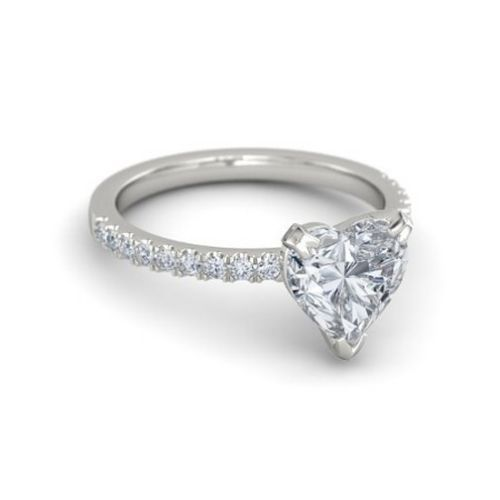 Beautiful  carat HEART CUT D VS WHOLESALE DIAMOND ENGAGEMENT RING K WHITE GOLD