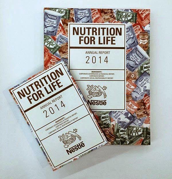Contoh Desain Gambar Buku Laporan Tahunan - Nutrition for Life Annual Report oleh Derrick Li Hua