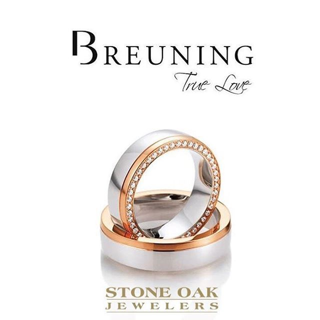 Rose gold and lined in diamonds, this ring will not disappoint.  #breuning