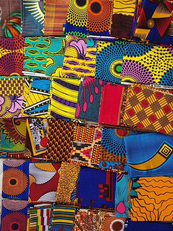 8d94b5a5ab70e African fabric craft set of 10 different 8