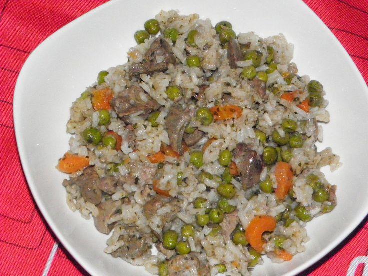 Zöldséges, rizses csirkemáj