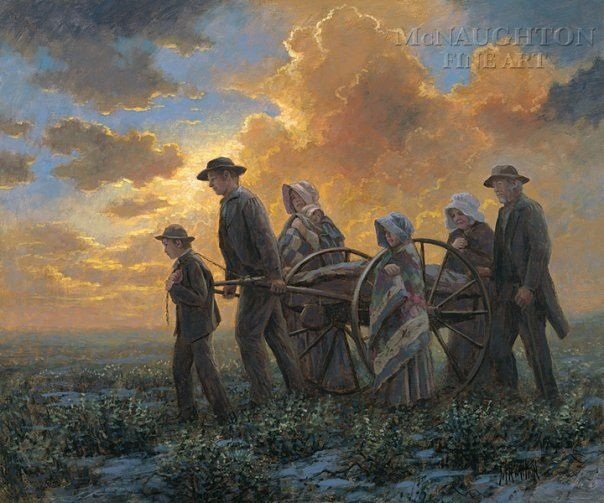 Mormon Pioneers seeking refuge from persecution. They are my heroes!
