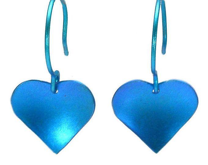 Titanium Dangle Earrings, Heart Earrings, Fashion Earrings, Titanium Earrings for Sensitive Ears, Valentine gift, Hypoallergenic Earrings