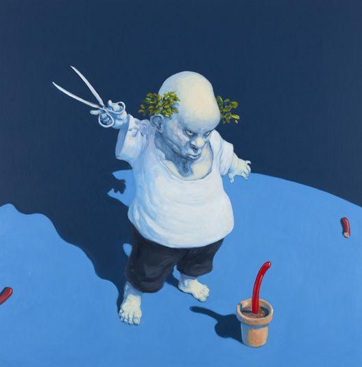 Michael Kvium - 'Little culture tale'.. That's real art.