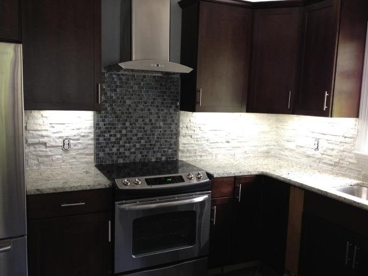 sierra vista white diamond stacked stone back splash
