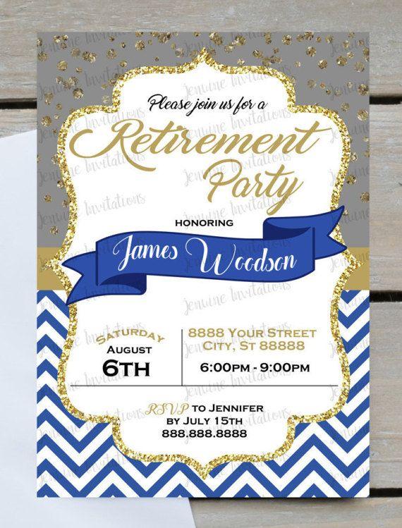 12 best Retirement Party Invitations images on Pinterest
