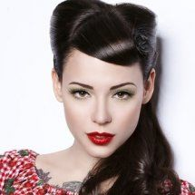 Super 1000 Images About Rockabilly Pin Up Girl Hairstyles On Short Hairstyles Gunalazisus