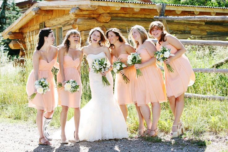 Summer fresh! Bridesmaid's dresses from Nordstrom, Wedding Gown by Casablanca ~ Photography by jennawalkerphotography.com, Floral Design by @bella fiori