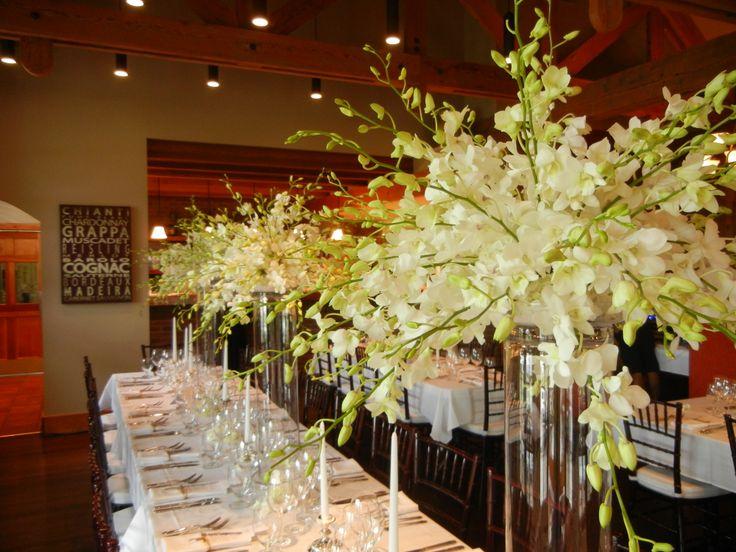 Dendrobium orchids in abundance make a great wedding display.