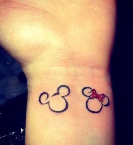 Matching Tattoos For Him And Her Him & her disney