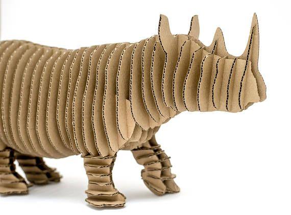 Edward Junior cardboard rhinoceros figure 3D Puzzle DIY