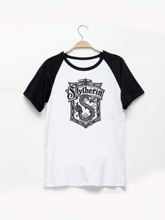 Slytherin House Logo Harry Potter Tshirt Vintage by JabraGoodsShop