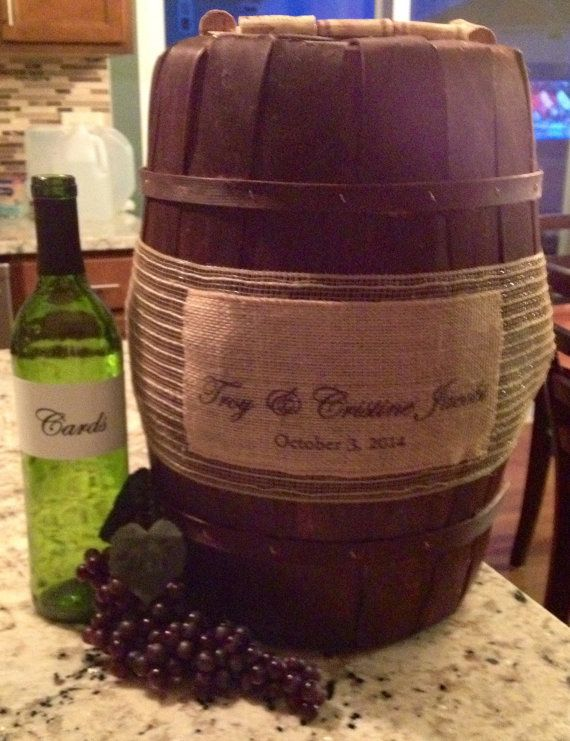 Awesome Custom Card Box Made To Resemble A Wine Barrel Includes G And
