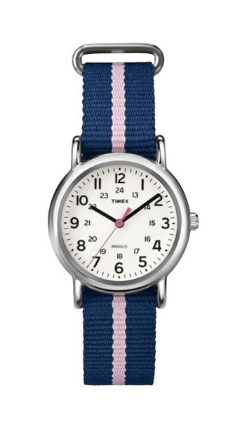 Timex makes stylish watches that won't break the bank. I love the striped band.