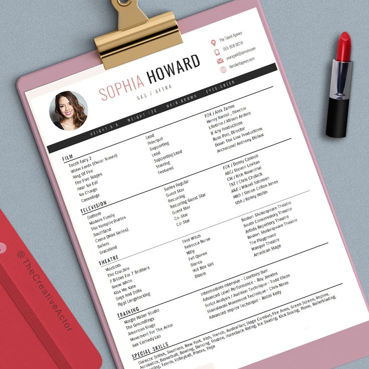 Best 25+ Acting resume template ideas on Pinterest Free resume - actor resume format