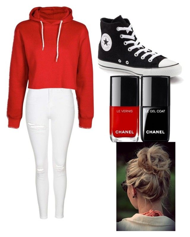 """""""Untitled #10"""" by sydneykimora ❤ liked on Polyvore featuring Topshop and Converse"""
