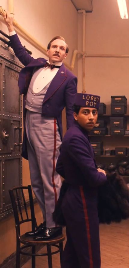 'The Grand Budapest Hotel' by Wes Anderson. Movie based on the writings of Stefan Zweig. Costume Designer: Milena Canonero #wesanderson #movies