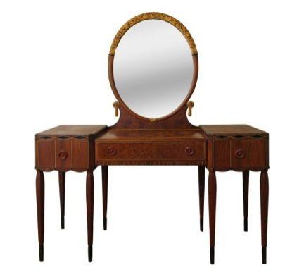 viyet designer furniture office statesman metalstand vintage.  Vintage Art Deco Vanity Inside Viyet Designer Furniture Office Statesman Metalstand Vintage N