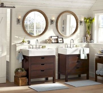 Seville Single Sink Console - contemporary - bathroom vanities and sink consoles - Pottery Barn