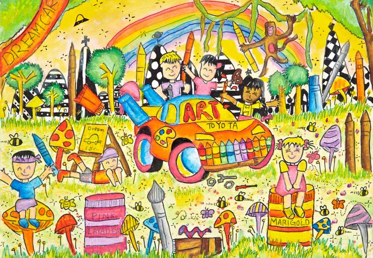'Art Car' by Suah Boon Choong, Aged 14, Singapore: 3rd Contest, Bronze #KidsArt #ToyotaDreamCar