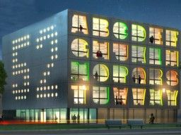 Rendering of The Alphabet Building in Amsterdam houses space for small- to mid-size companies. Designed by MVRDV. To be completed in 2012.