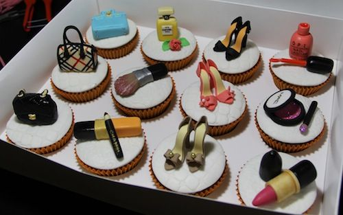 Birthday Cosmetic and Fashion Cupcakes 3