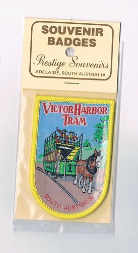 We like trains and trams - so I had to include this one! Cloth Badge of the Victor Harbor Tram, South Australia, Australia. Sold for $4.50.