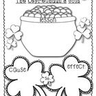 """After reading """"The Leprechaun's Gold"""" by Pamela Duncan Edwards, students may use this printable to write the lesson of the story, write a cause/eff..."""