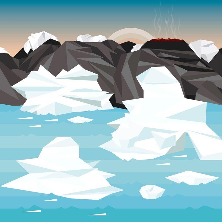 Illustrator icebergs