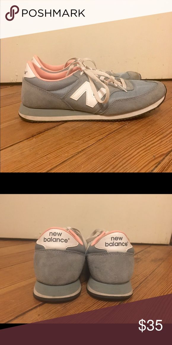 J Crew for New Balance sneakers Greg, white, and pink new balance sneakers from J Crew. Great condition! New Balance Shoes Sneakers