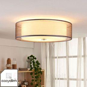 Per Schalter Dimmbare LED Deckenlampe Tobia, Grau