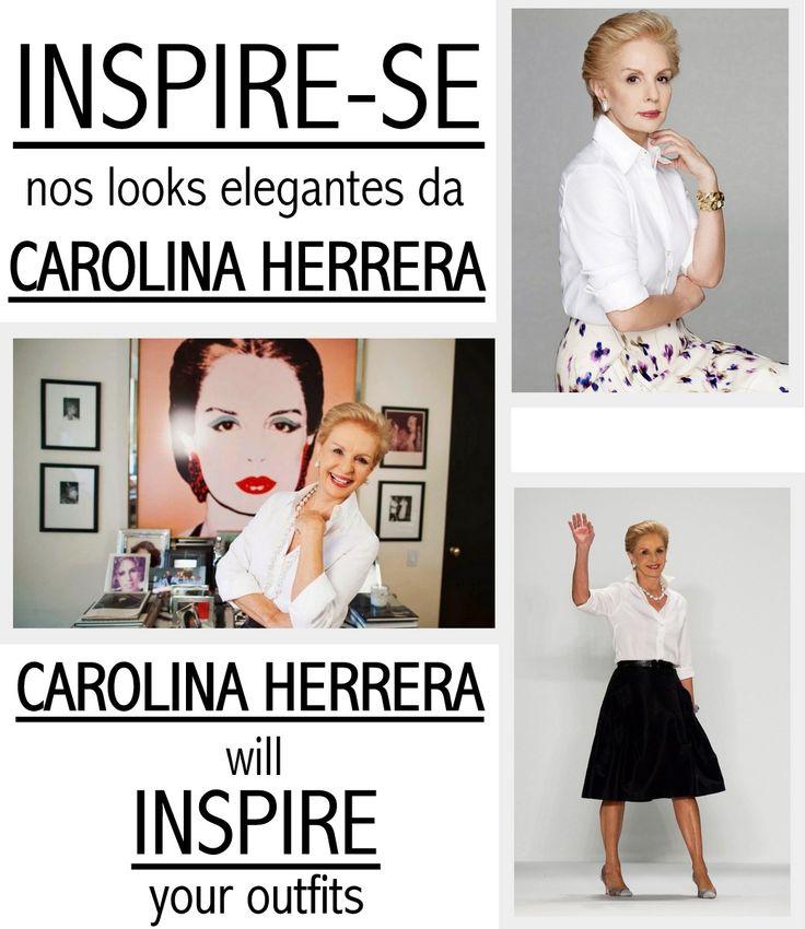 Carolina Herrera é extremamente bem sucedida na moda e é, também, sinônimo de elegância. Dona de um estilo clássico, ela elege a camisa branca como a sua peça preferida.  Carolina Herrera has an extremely successful career in fashion and is synonym of elegance. Fan of the classic style, a white button down shirt is her favorite piece.
