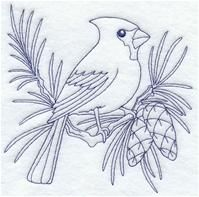 Machine Embroidery Designs at Embroidery Library! - A Birds of Winter (Bluework) Design Pack - Lg