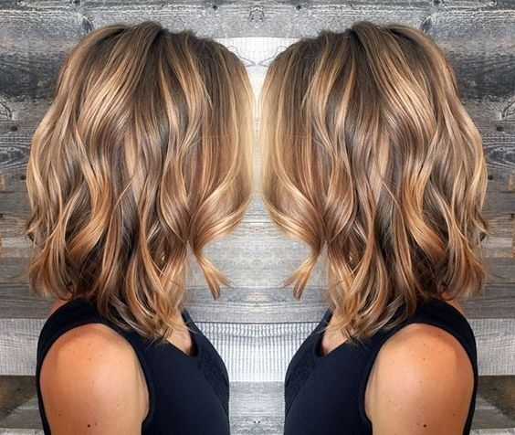 Layered-Wavy-Lob-Hairstyle-Blonde-and-Light-Brown-Balayage