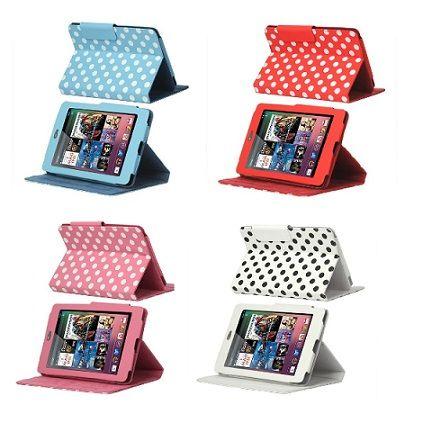 Se hai già acquistato questo tablet, oggi proponiamo le custodie incantevoli con motivo polka dot.