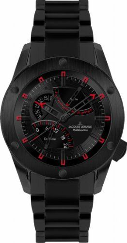 Jacques Lemans Men's 1-1634I Liverpool GMT Sport Analog GMT Watch   Your #1 Source for Watches and Accessories