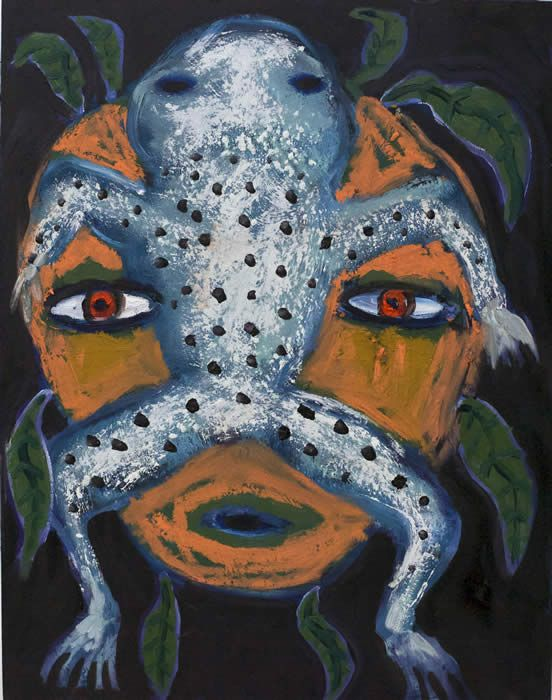 """Frogger"" by Santa fe New Mexico self taught artist Kelly Moore"
