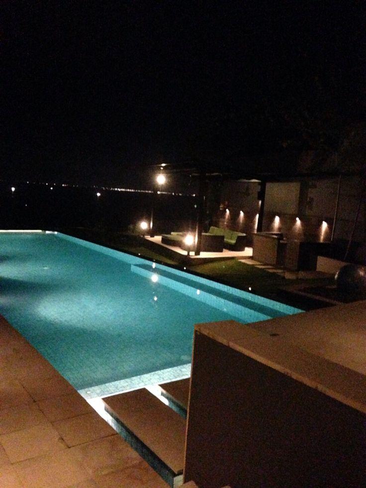 Suluban Cliff Bali Villa poolside . Infinity pool at the cliff edge.