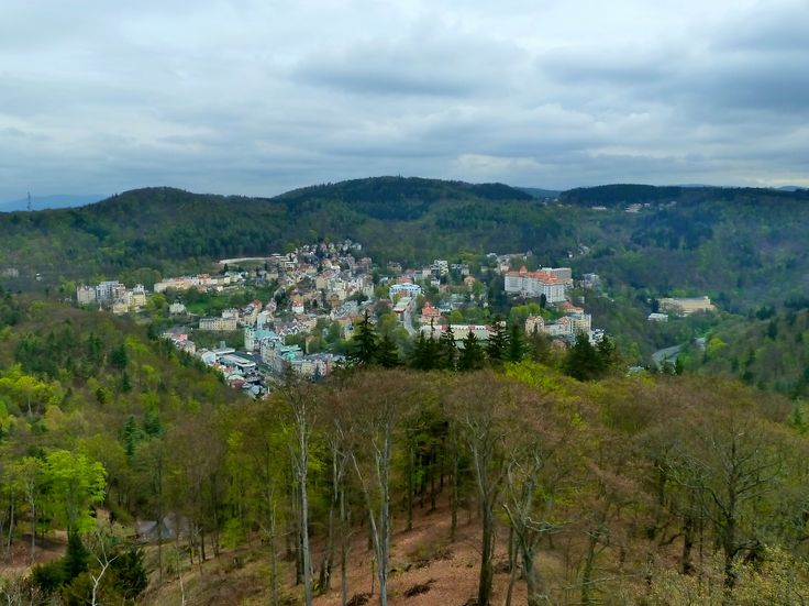 Karlovy Vary from a distance.