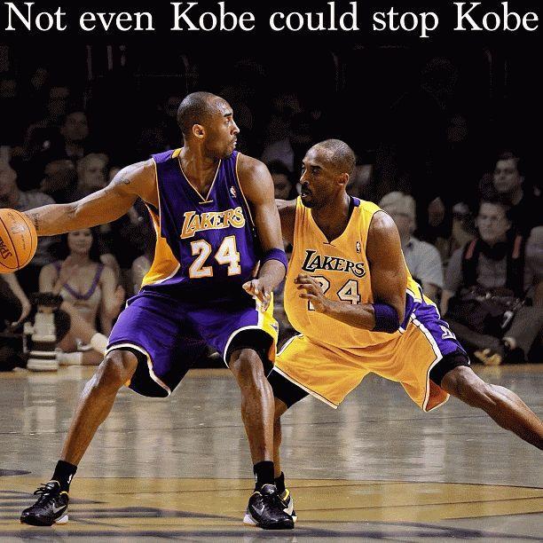 NOT even Kobe Bryant could stop Kobe Bryant.