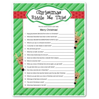 Riddles that are as much find to hear the correct answers, as it is to play! For kids 10+ or adults who appreciate corny humor. Printable Christmas game.