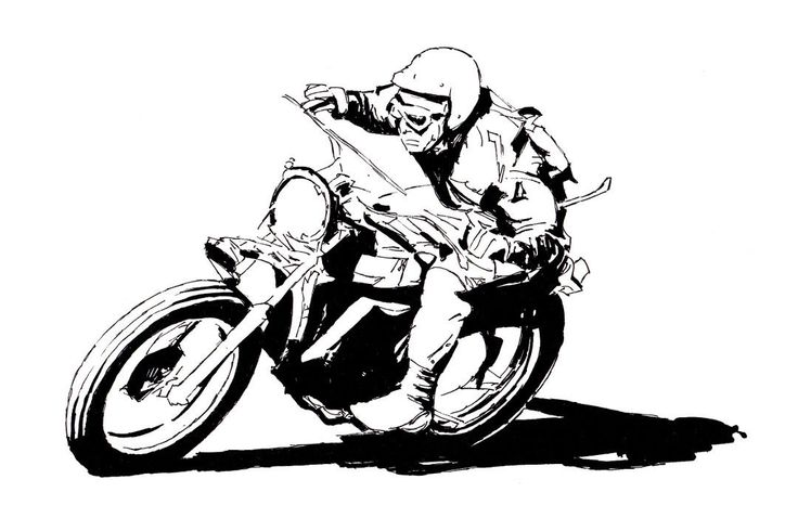 Vintage Cafe Racer Motorcycle Art Poster Print Style B 24x36 | eBay