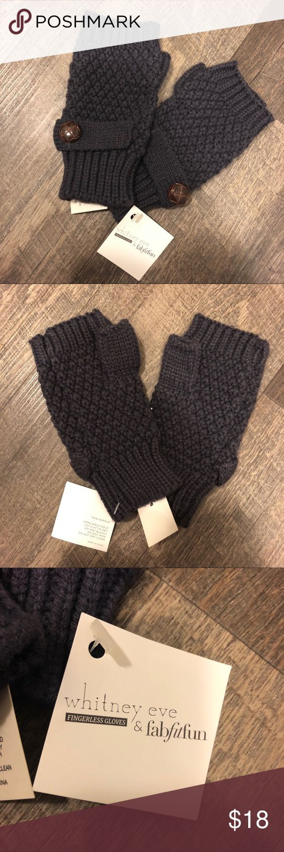 NWT Whitney Eve Gray Knit Fingerless Gloves New with tags. Whitney Eve Gray Knit Fingerless Gloves. Perfect condition. Whitney Eve Accessories Gloves & Mittens