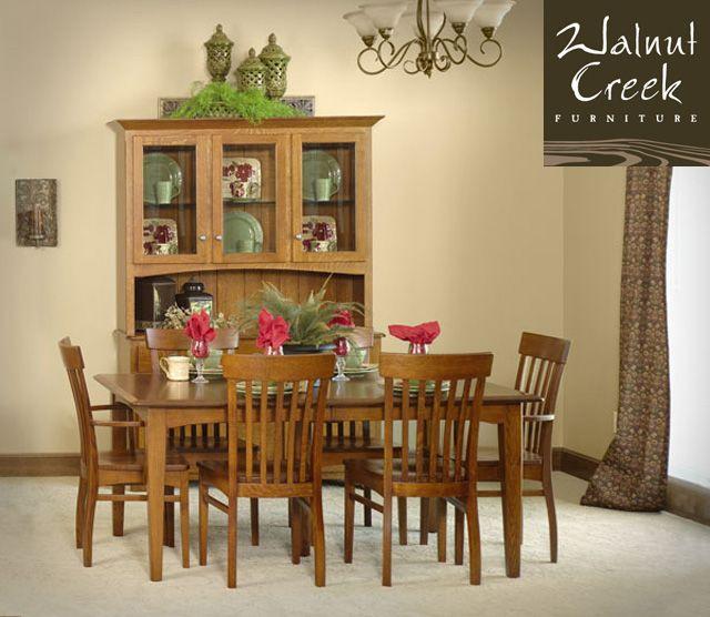 Walnut Creek Furniture Brookside Shaker Dining Set Made By Amish Craftsmen.