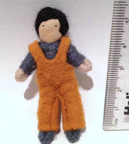 Vintage-Dolls-house-1970s-Halfpenny-Boy-Brother-Bendable-Doll-Figure-Lundby-Size