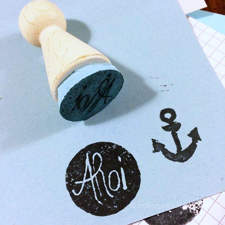 Stempel selber machen, Linolschnitt