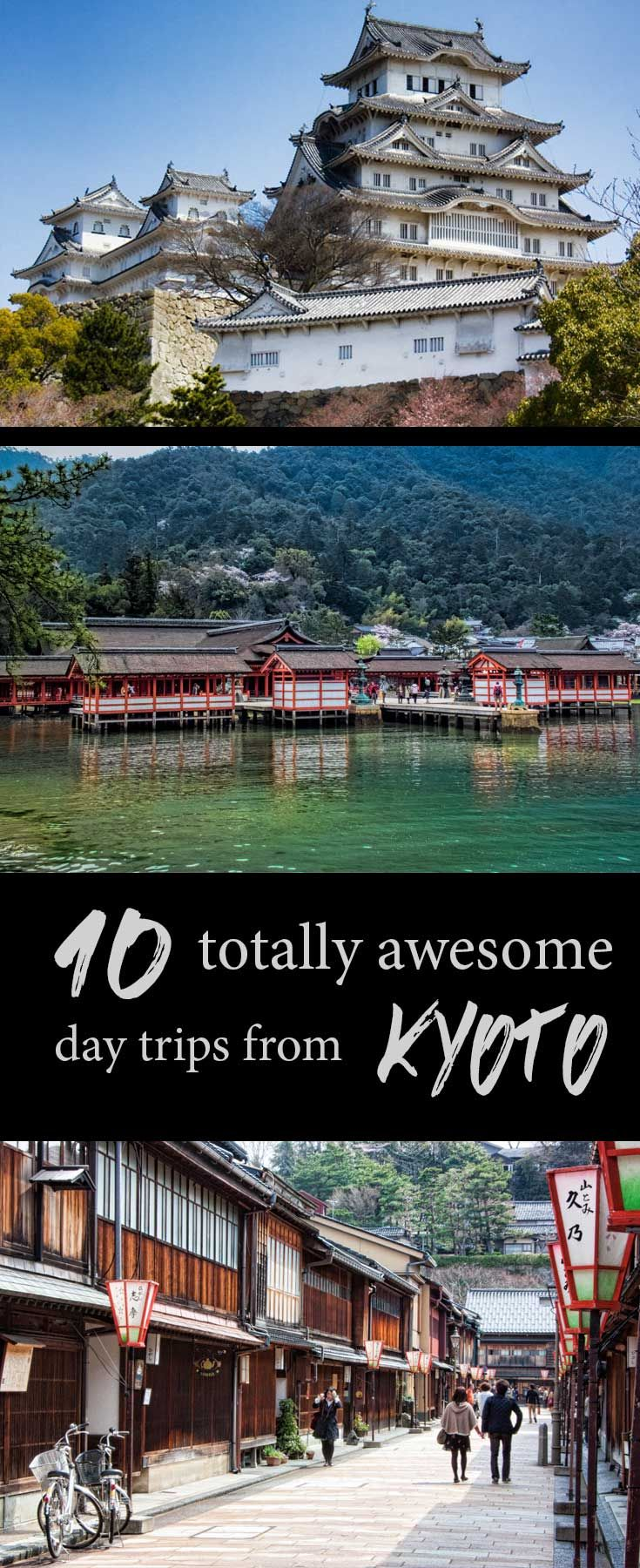 Kyoto is an amazing city but there are also some incredible day trips you can do from a base in Kyoto or Osaka.  These are 10 of the best. via @2aussietravellers
