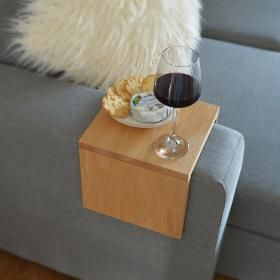 Custom Couch Arm Table   Premium Hydrowood   Various Timbers   Couchmate